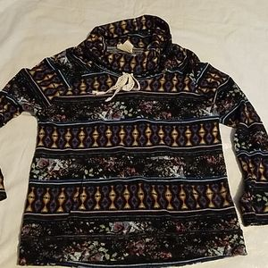 Self Esteem Multi-Color Long Sleeve Shirt Sz LG